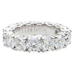 Graff 7.44 Carats Diamonds Platinum Wedding Band Ring