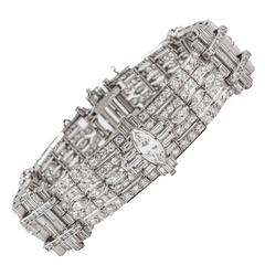 Exceptional Art Deco Diamond Bracelet