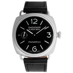 Panerai Stainless Steel  Radiomir Black Seal Wristwatch Ref PAM 00183