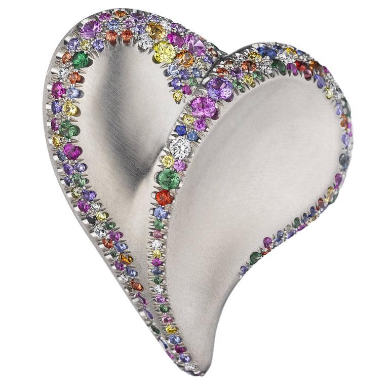 Naomi Sarna Confetti Heart Ring For Sale