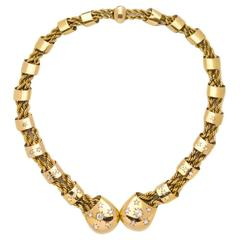 Boucheron Paris Retro Diamond Gold Necklace