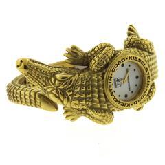 Kieselstein-Cord Ladies Yellow Gold Quartz Bracelet Wristwatch