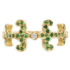 Sabine Getty Prospero Oona Tsavorite Diamond Gold Ring