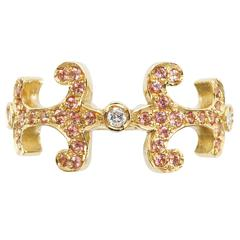Sabine Getty Prospero Oona Pink Topaz Diamond Gold Ring