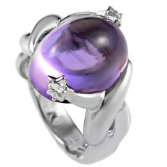 Chanel Comete Star Amethyst Diamond Gold Ring