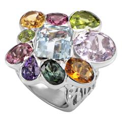Dior Multi-Gemstone Gold Ring