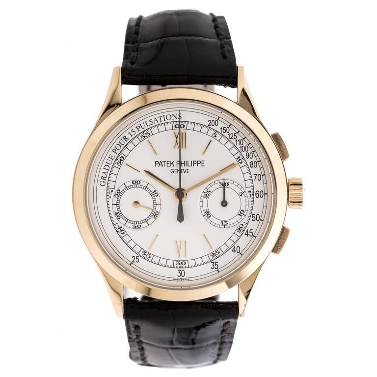 Patek Philippe Yellow Gold Chronograph Wristwatch Ref 5170