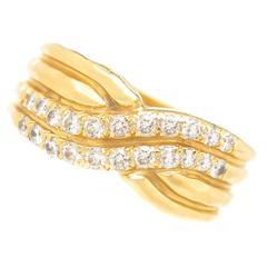 Henry Dunay Diamond Gold Ring