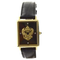 Franklin Mint Commemorative or 18 karat Yellow Gold or Men's Wrist Watch