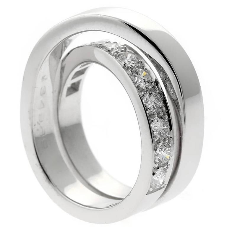 Cartier Diamond Gold Bypass Ring