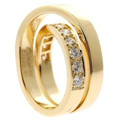 Cartier Diamond Gold Crossover Ring