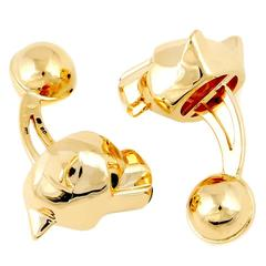 Cartier Gold Panthere Cufflinks