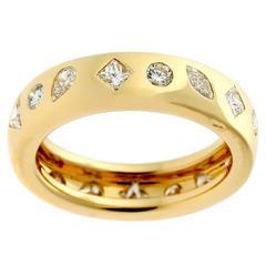Chanel Diamond Gold Eternity Band Ring