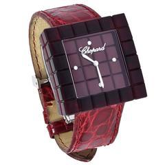 Chopard Ladies Stainless Steel Resin BE MAD Quartz Wristwatch