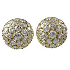 Brilliant Diamond Gold Bombe Earrings