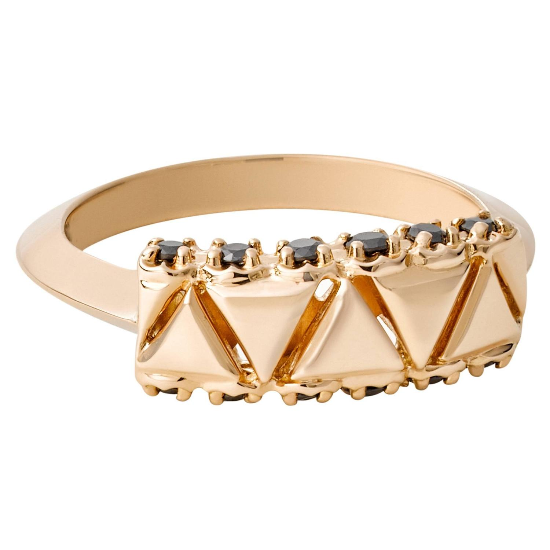 Golden Unity Black Diamond Gold Ring For Sale at 1stdibs