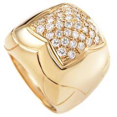 Bulgari Piramide Diamond Pave Gold Ring