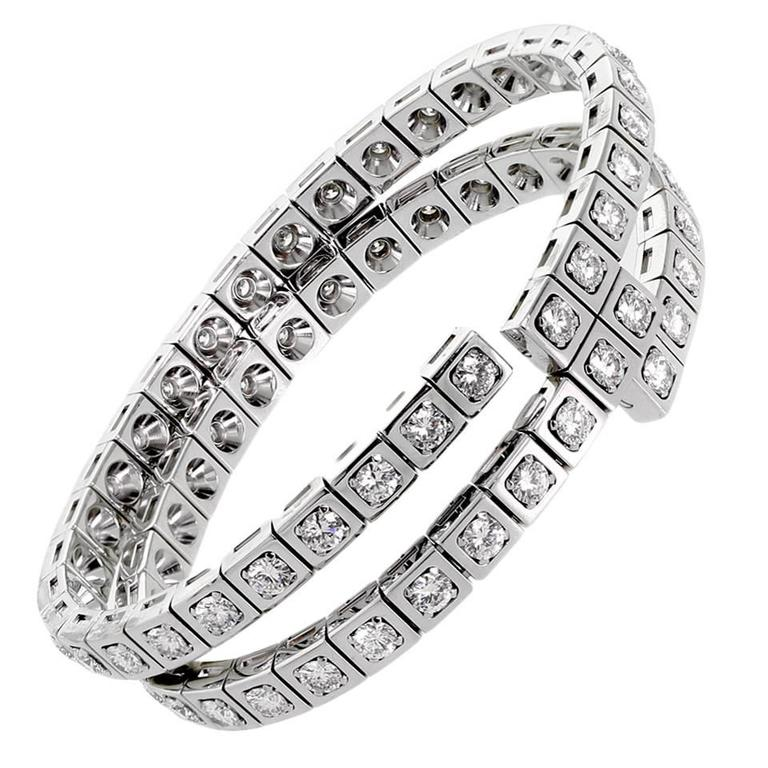 Cartier Diamond Gold Wrap Tennis Bracelet