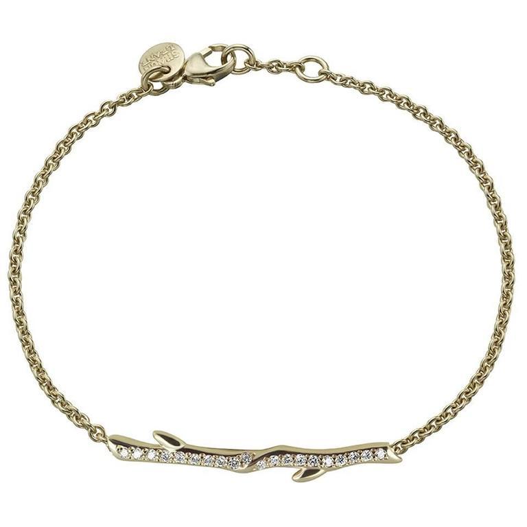 Shaun Leane Diamond Gold Vermeil Cherry Branch Bracelet