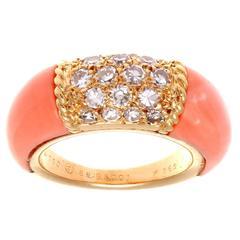 Van Cleef & Arpels Coral Diamond Gold Philippine Ring