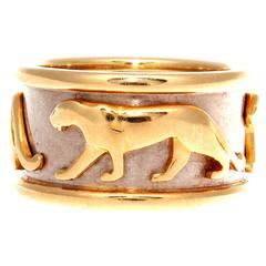 Cartier Walking Panthere Gold Ring