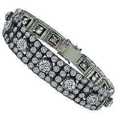 Antique 31 Carat Diamonds Silver Bracelet
