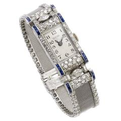 Glycine Ladies Platinum Diamond Wristwatch