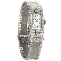 Gattle Ladies Platinum Diamond Wristwatch