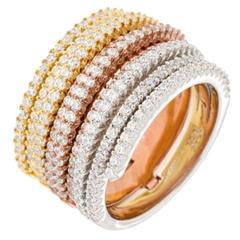 Micro Pave Diamond Gold Ring