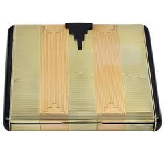 Tiffany & Co. Art Deco Sterling Silver Gold Box