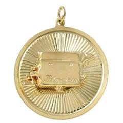 Early Television Camera Gold Charm