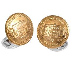 Deakin & Francis Sterling Silver 230 Coin Regents Place Cufflinks