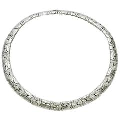 Bulgari Parenthesis Diamond Gold Small Collar Necklace