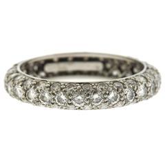 Tiffany & Co. Etoile Diamond Platinum Three Row Band Ring