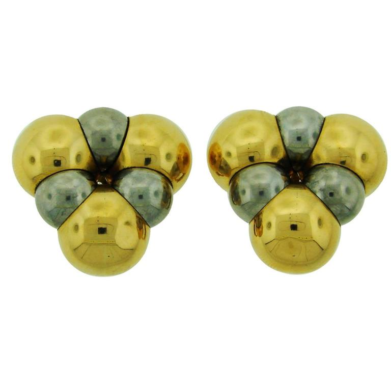 1980s Marina B Gold Earrings