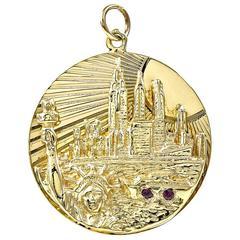 New York City Gold Charm