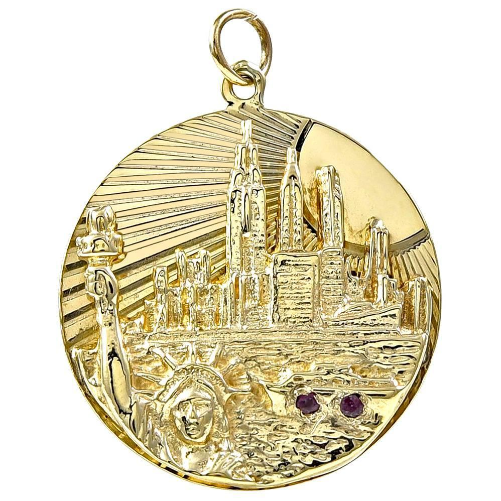 new york city gold charm for sale at 1stdibs