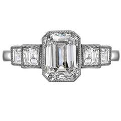 Five Stone Graduated Diamond Platinum Ring