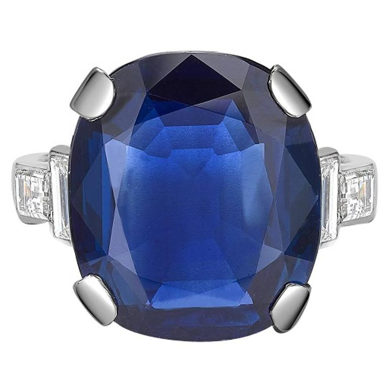 ebay sapphire cut loading gemstone blue certificate grs is itm cushion loose image