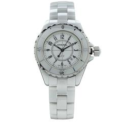 Chanel Stainless Steel White Ceramic Case Automatic Wristwatch