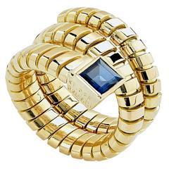 Bulgari Sapphire Gold Spiga Ring