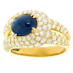 Boucheron Sapphire and Diamond Set Gold Ring