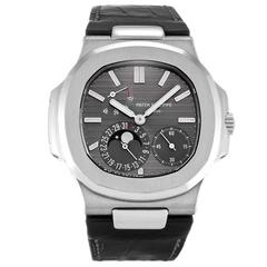 Patek Philippe White Gold Nautilus Automatic Wristwatch Ref 5712G-001