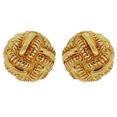 Tiffany & Co. Schlumberger Gold Knot Earrings