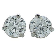 1.05 Carat GIA Cert Diamond Stud Earrings