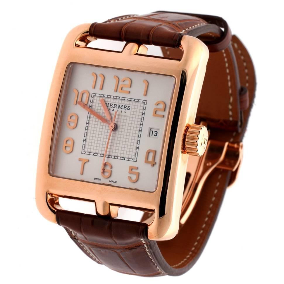 Cape Cod Rose Part - 27: Hermes Rose Gold Cape Cod Limited Edition Wristwatch At 1stdibs