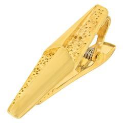 Ed Wiener Modernist Gold Tie Bar