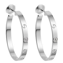 Cartier Love White Gold Hoop Earrings