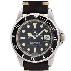 Rolex Stainless Steel Submariner Self Winding Wristwatch Ref  1680 1979