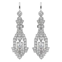 Art Deco Diamond Chandelier earrings